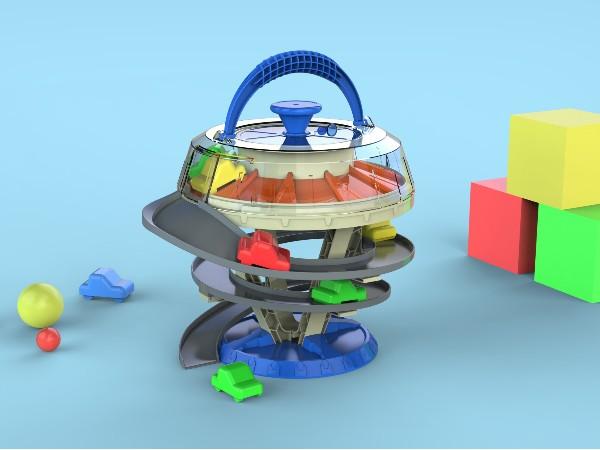 儿童旋转停车场玩具设计