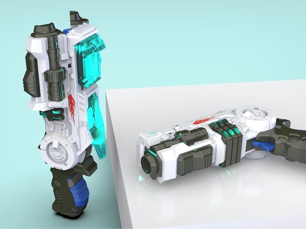 擎天柱变形枪玩具设计