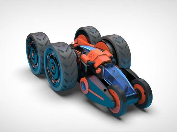 分析一波好玩的翻滚车玩具设计案例