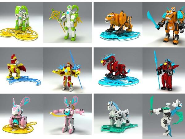 分享一款变形机器人玩具设计案例