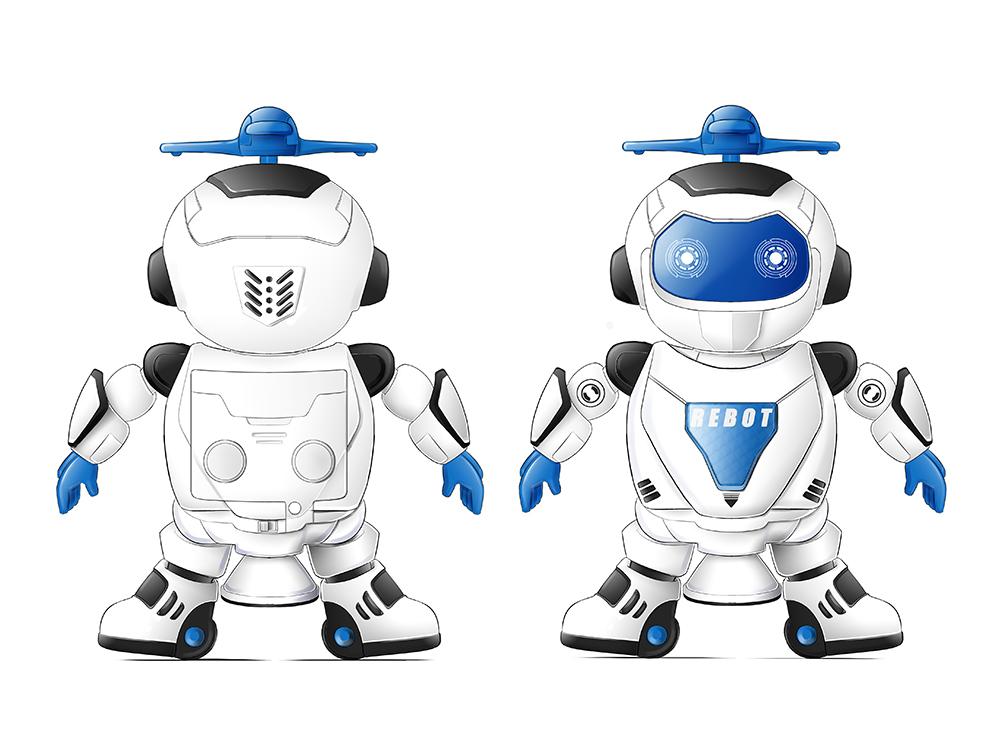 电动跳舞机器人平面设计