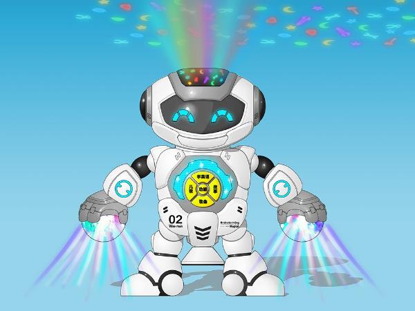 益智投影机器人设计