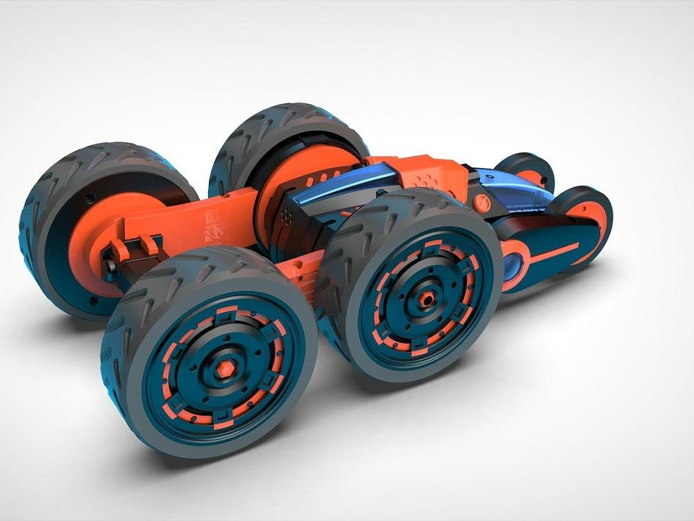 六轮变形特技车设计