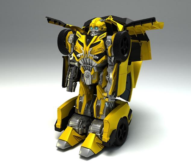 骏意设计·大黄蜂变形金刚玩具案例
