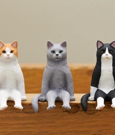 坐着的猫玩具系列细节