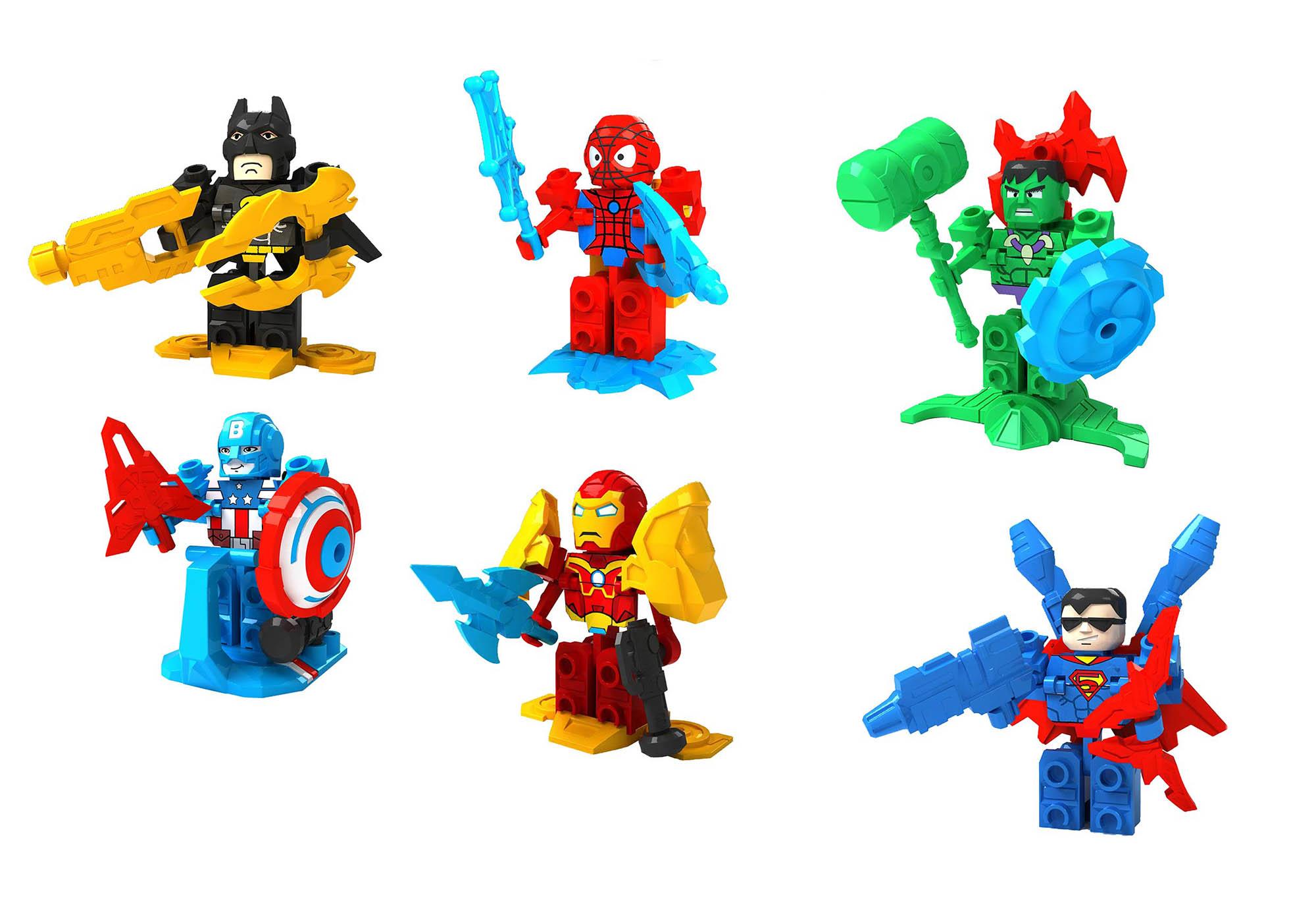 复仇者联盟积木DIY拼装玩具设计