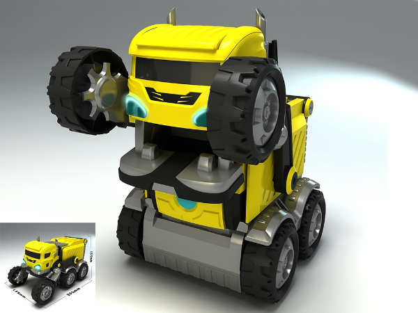 智能怪兽变形车设计