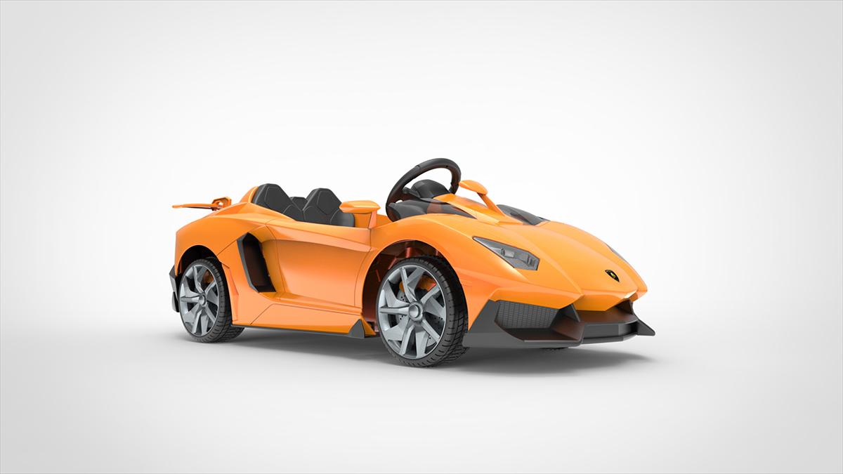 兰博基尼授权电动童车设计