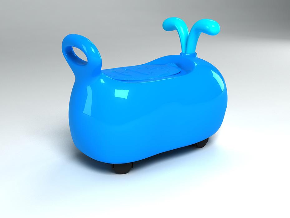 鲸鱼坐便器设计