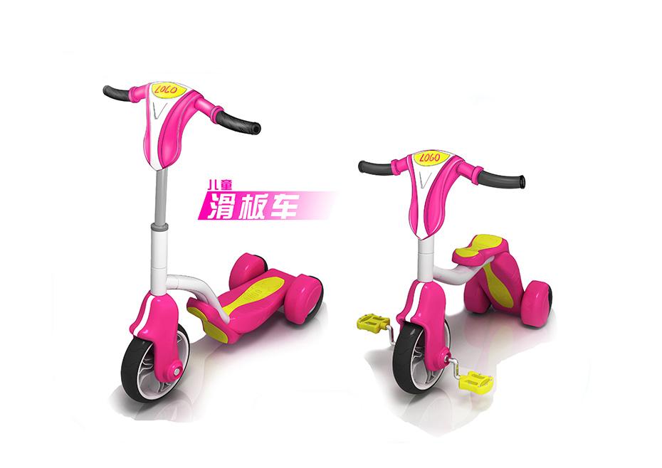 滑板脚踏车