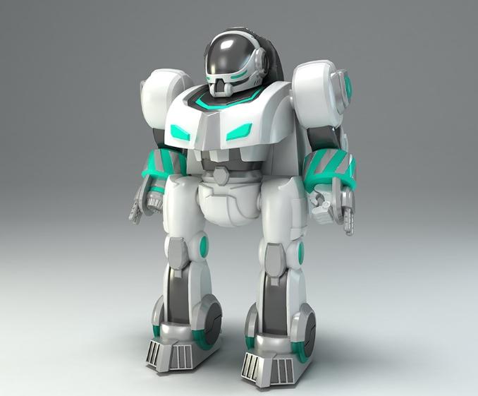 图二 骏意设计·指纹识别机器人案例
