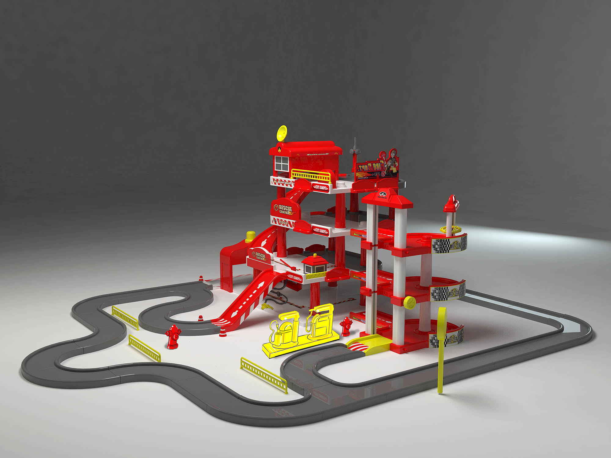 汽车轨道停车场套装玩具设计