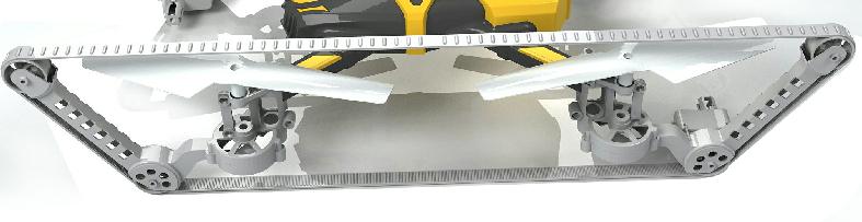 履带四轴无人机的履带设计细节