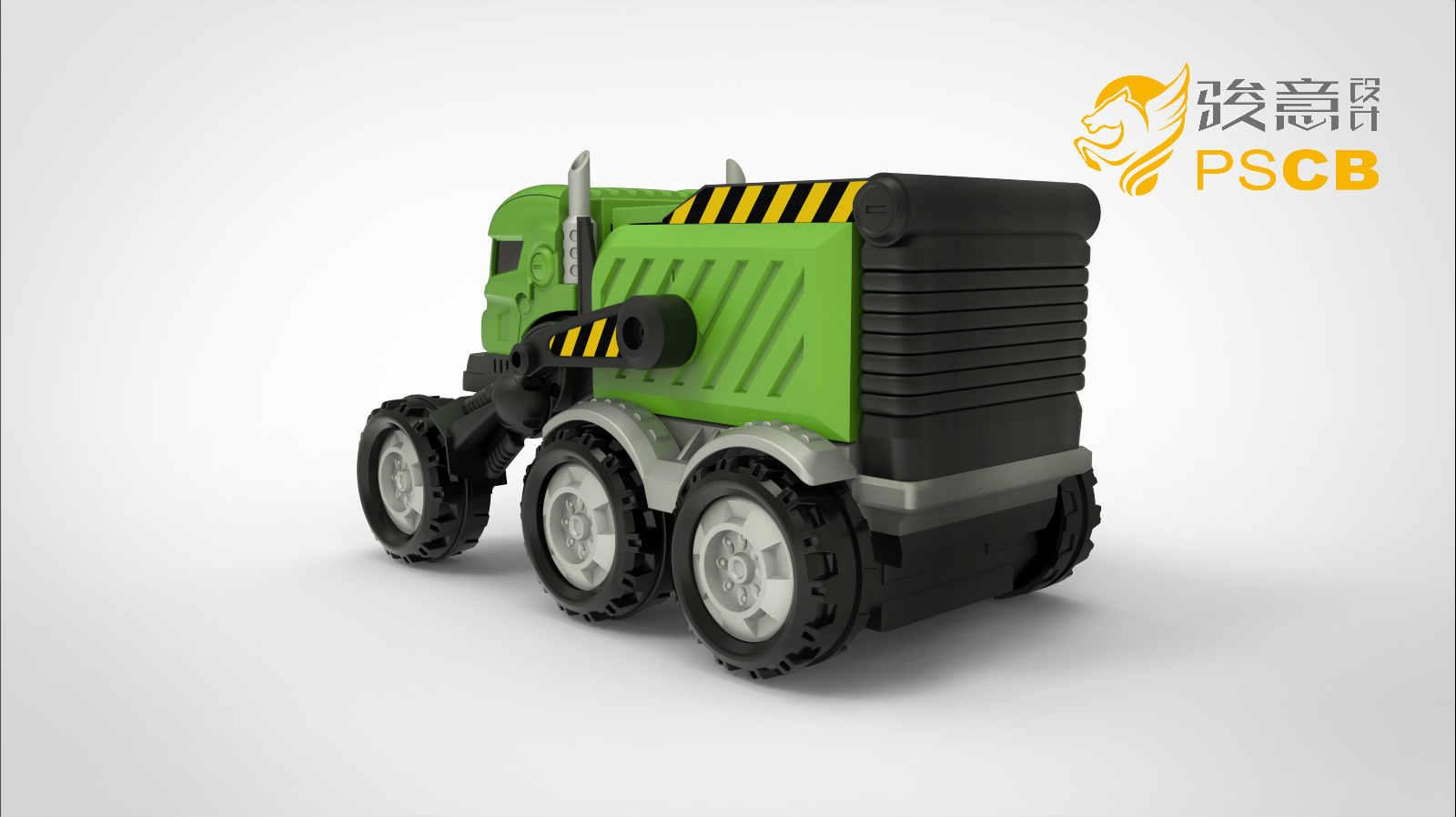 垃圾车变形玩具设计