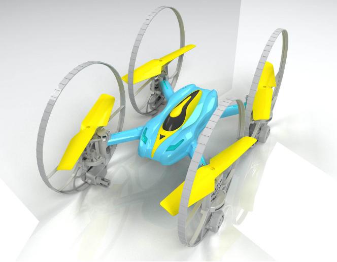 骏意设计四轴无人机案例