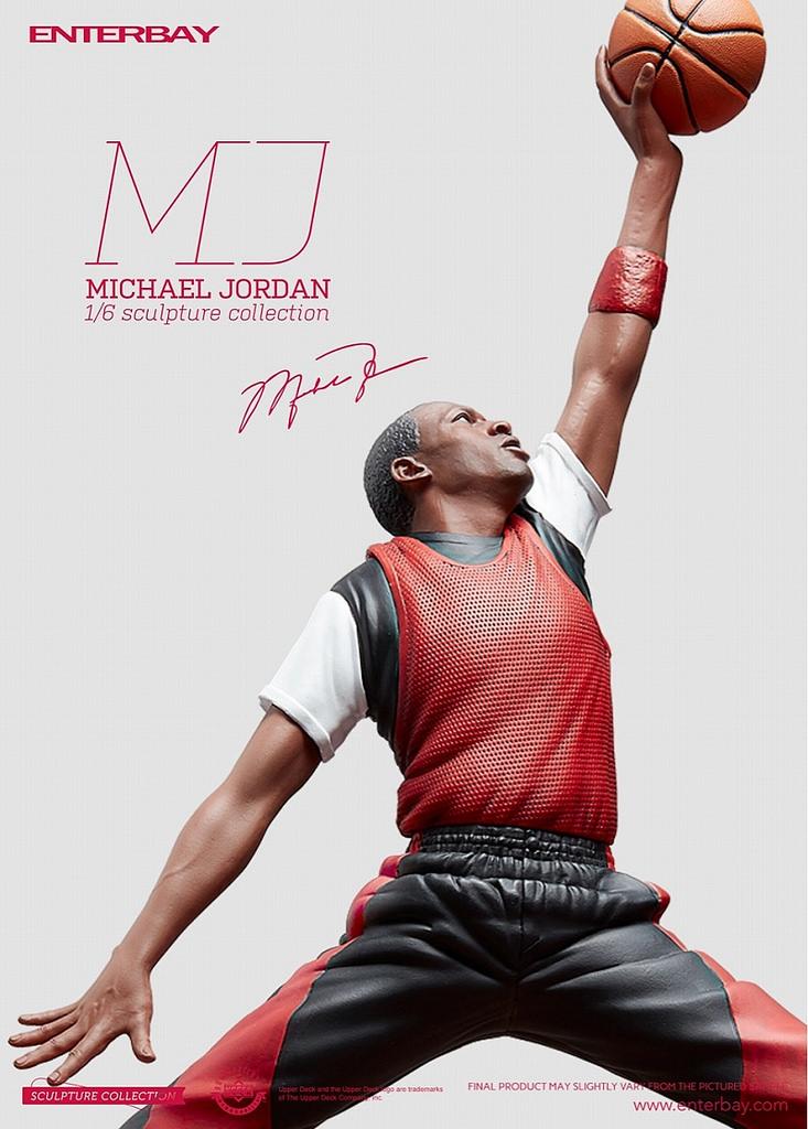 """""""迈克·乔丹""""真人上色版人偶模型2"""