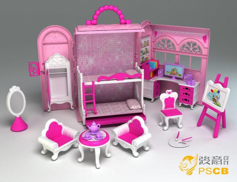梦幻芭比屋玩具设计