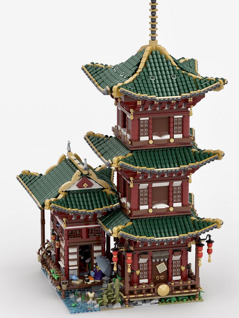 """乐高""""隐士的神庙""""造型积木"""
