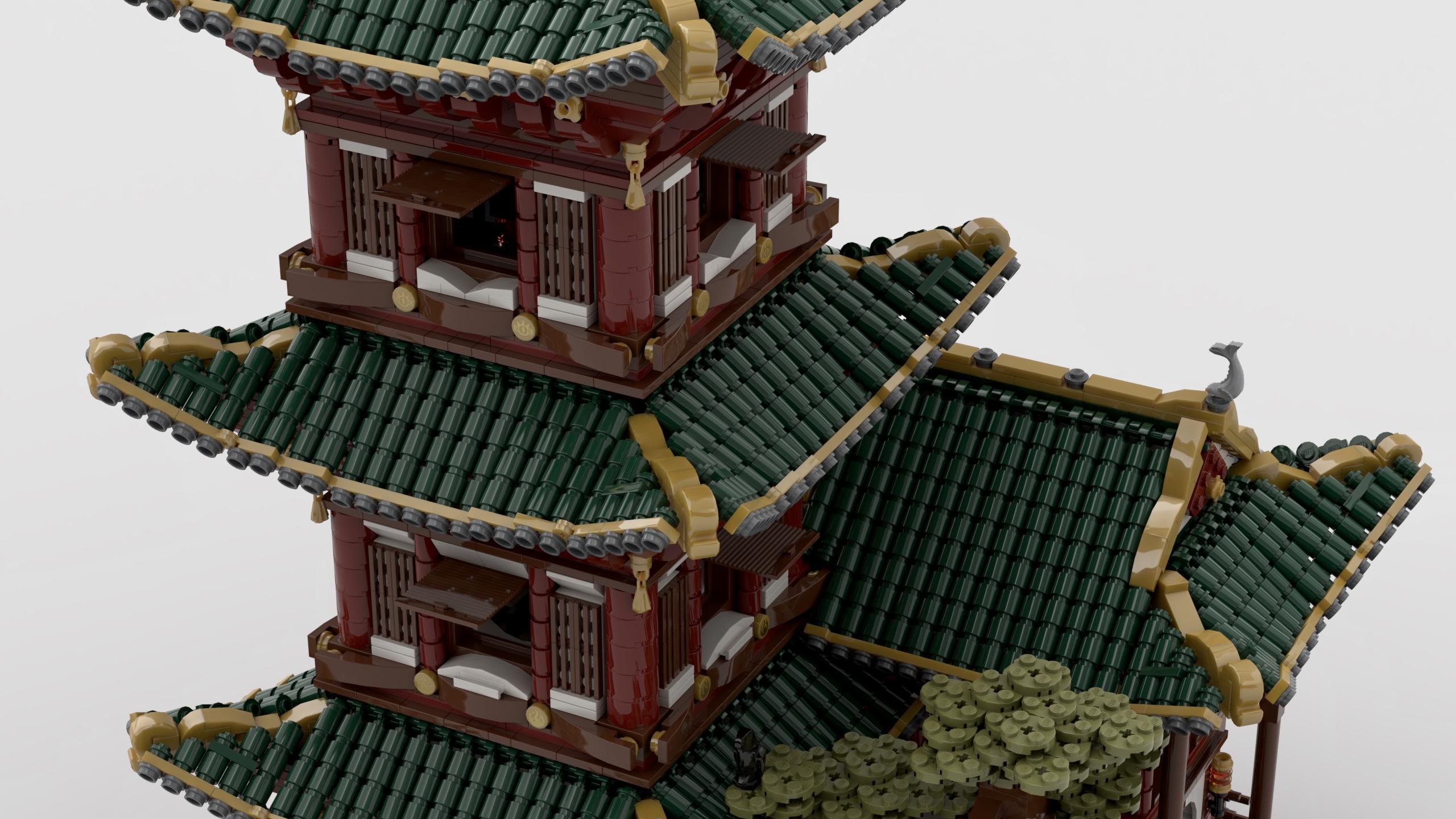 """乐高""""隐士的神庙""""造型积木细节部分"""