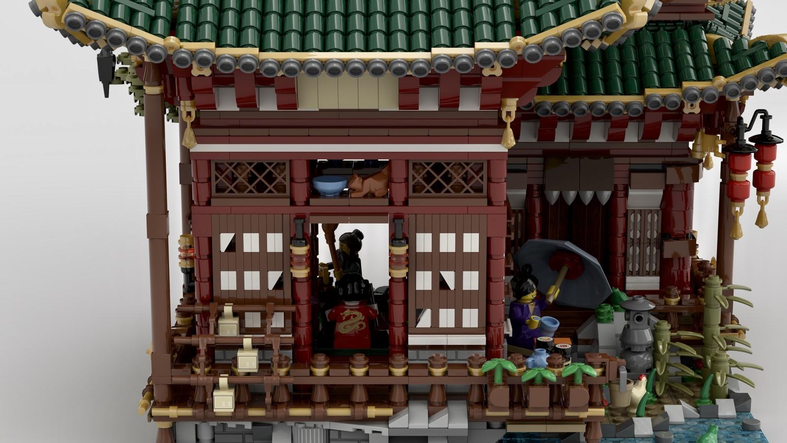 """乐高""""隐士的神庙""""造型积木部分细节"""