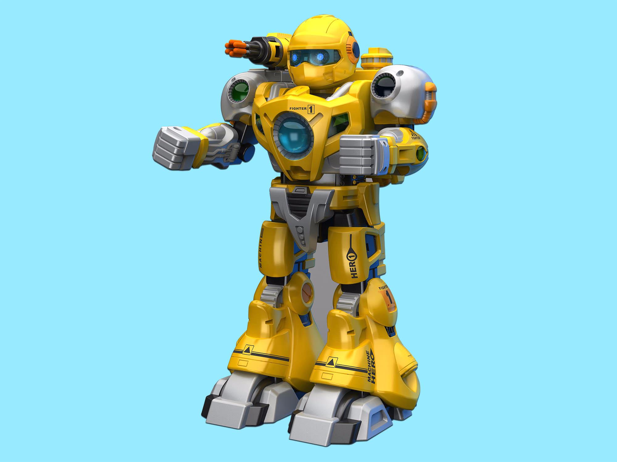 儿童战斗射击机甲机器人