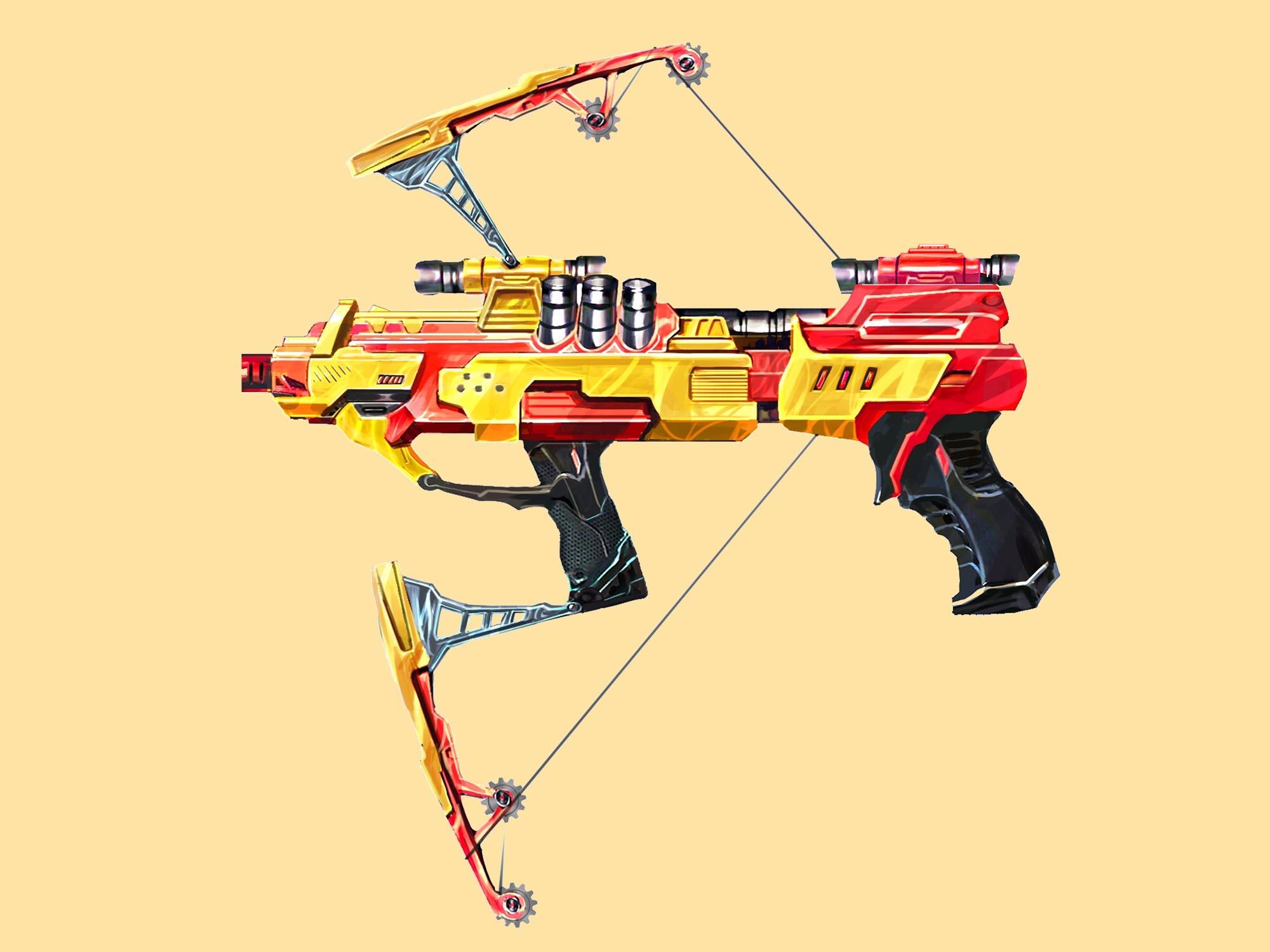 变形手动软弹射击枪设计