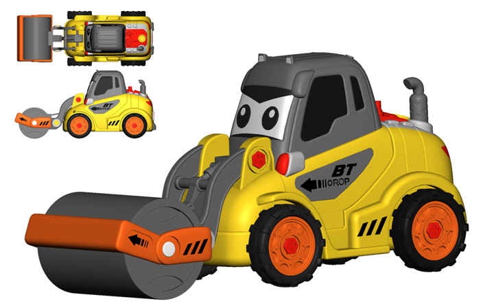 卡通工程车系列玩具设计