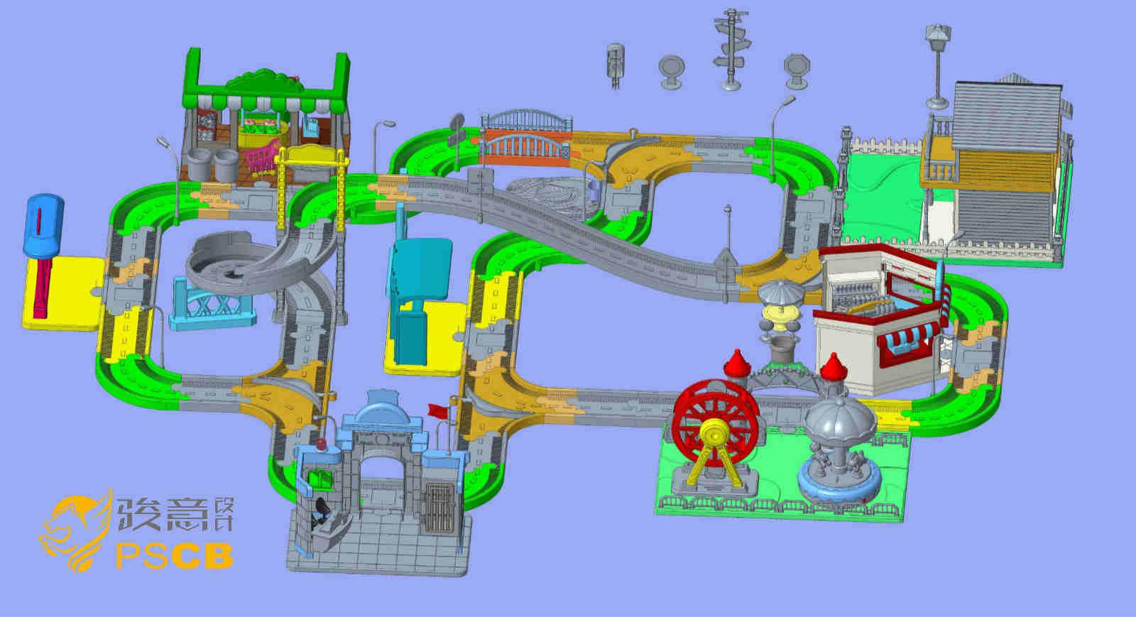 儿童过家家轨道玩具结构设计