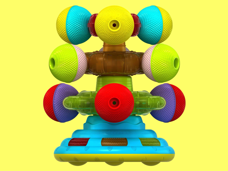 叠叠乐转球玩具设计