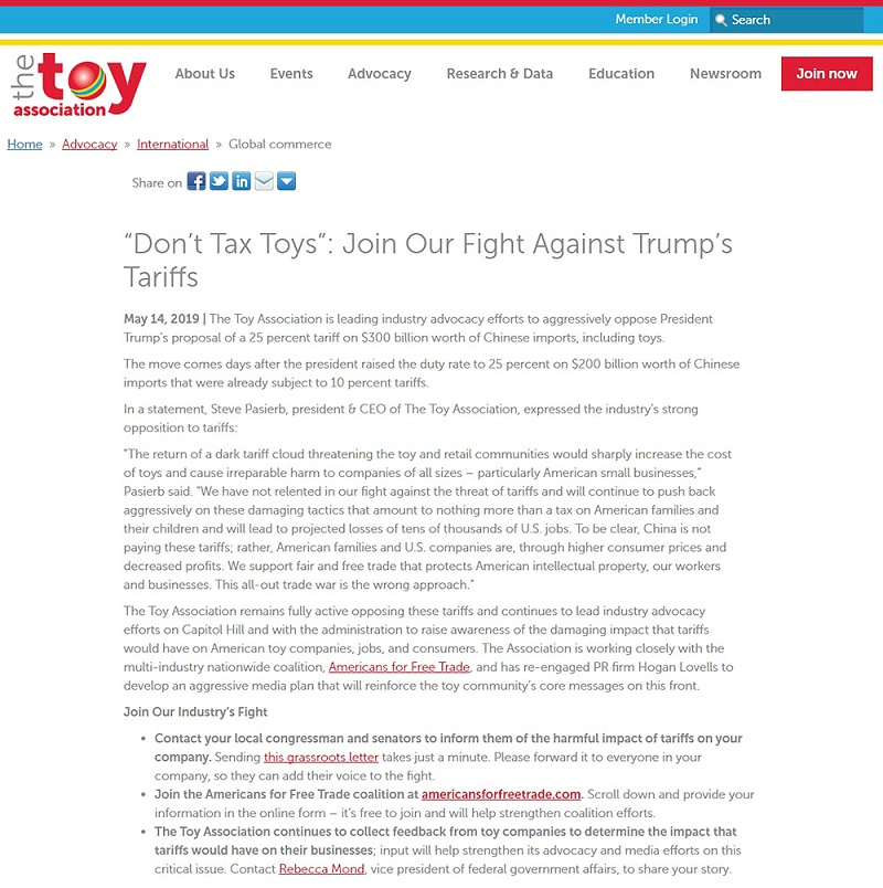 Join Our Fight Against Trump's Tariffs