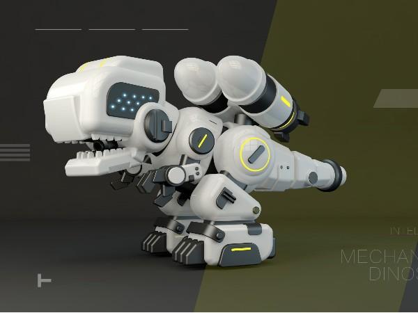 遥控电动机械恐龙设计